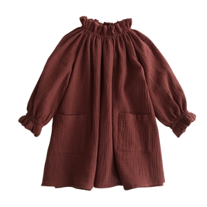 oana dress - chestnut
