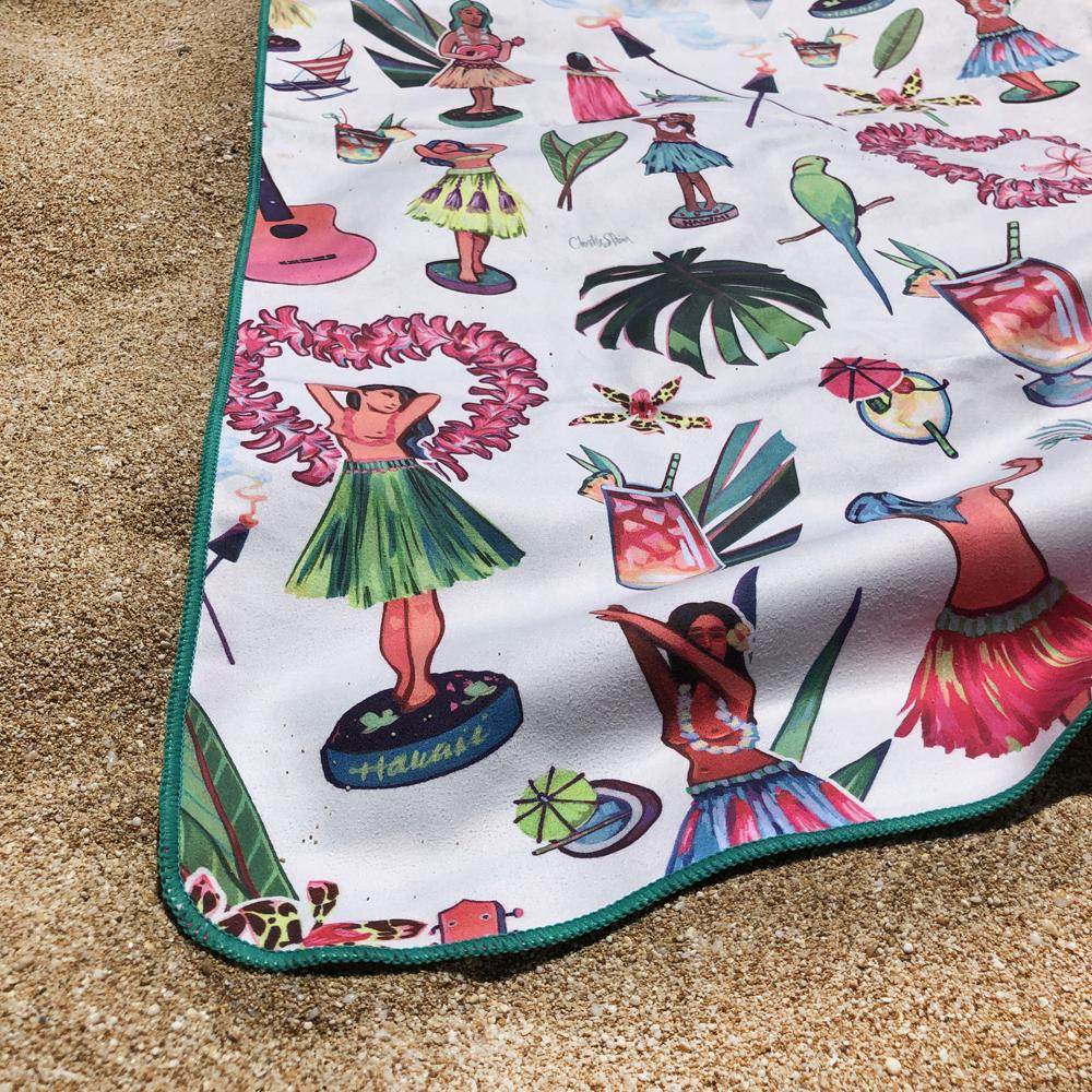 HULA DOLLS - Surfer Towel