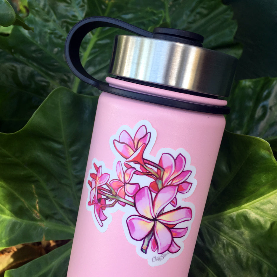 PLUMERIA - BOTTLE STICKER