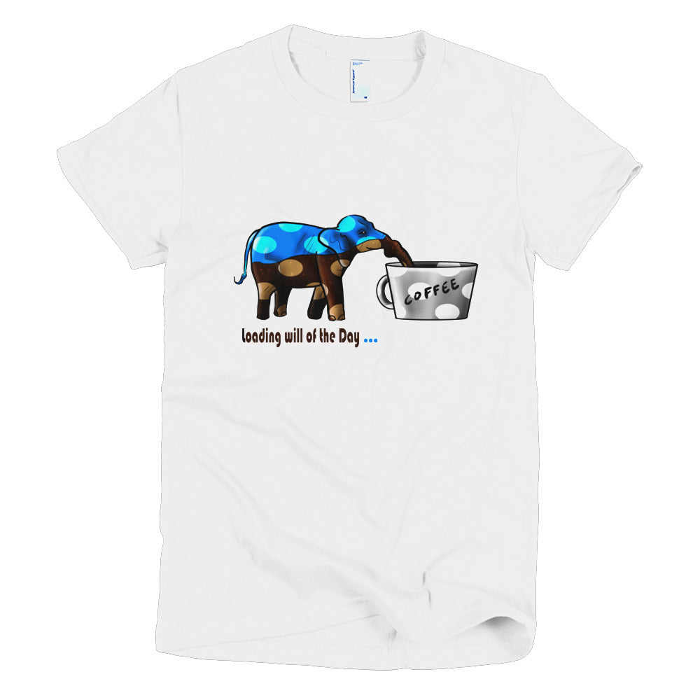 Short sleeve women's t-shirt - Blue Elephant