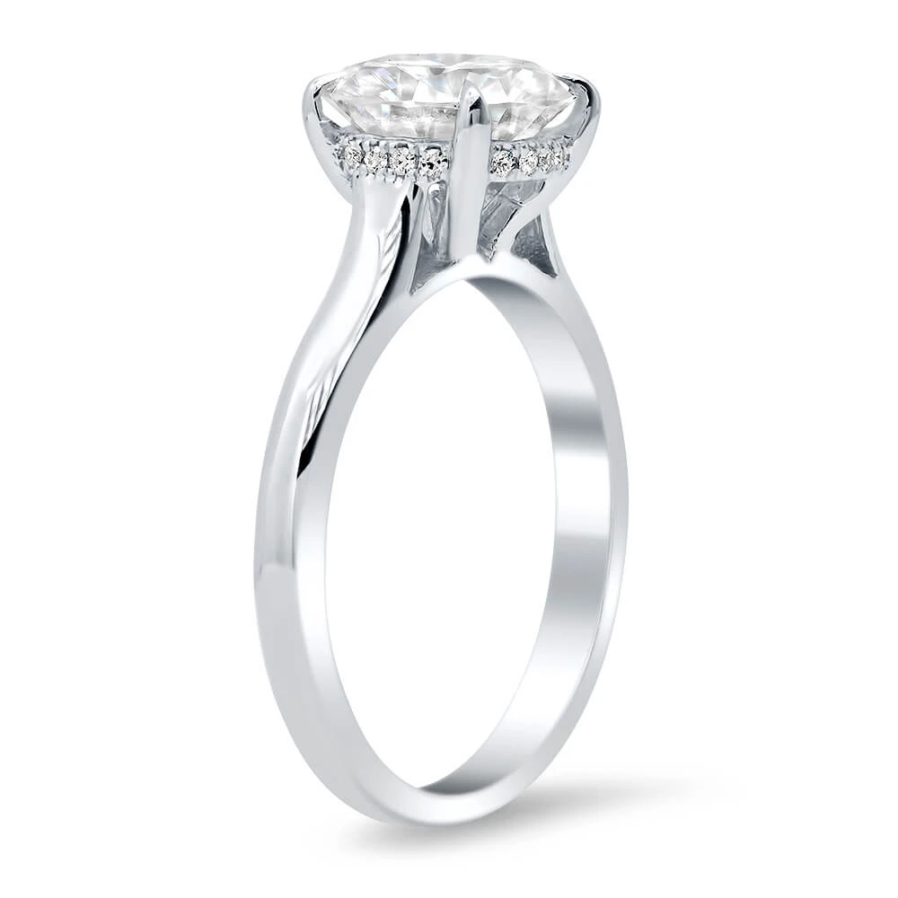 Drop Halo and Under Halo Engagement Rings