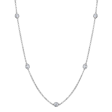 1 Carat Bezel Diamond Necklace