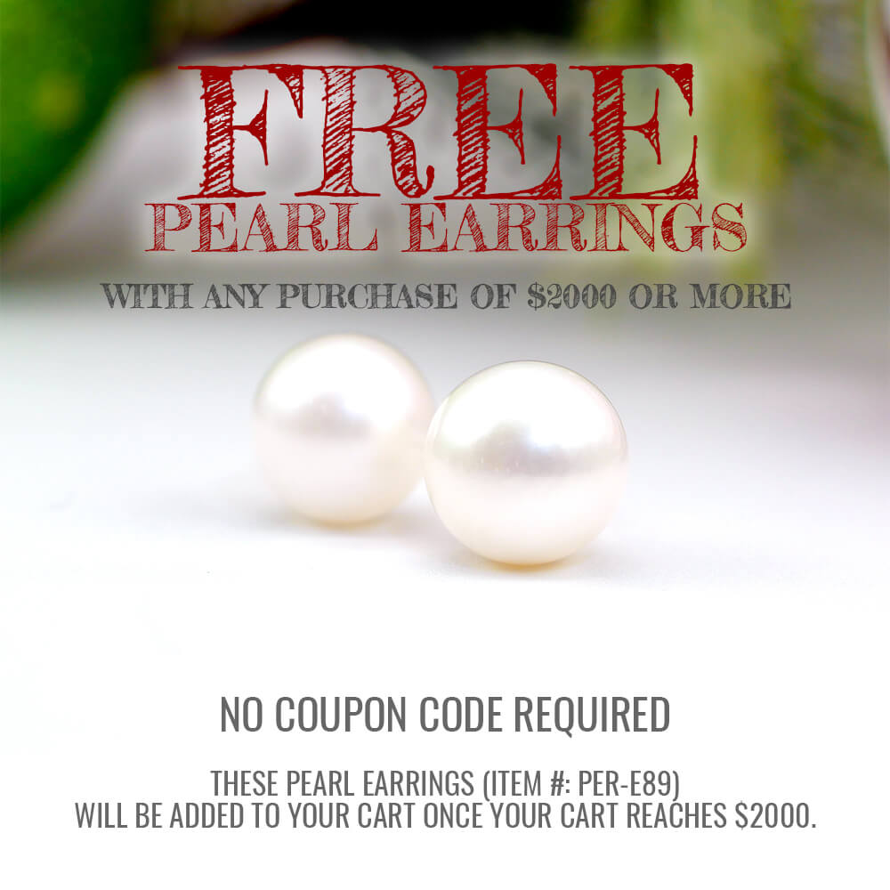 Spend $2000 with deBebians and receive Free Pearl Earrings