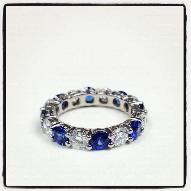 5 carat sapphire and diamond ring