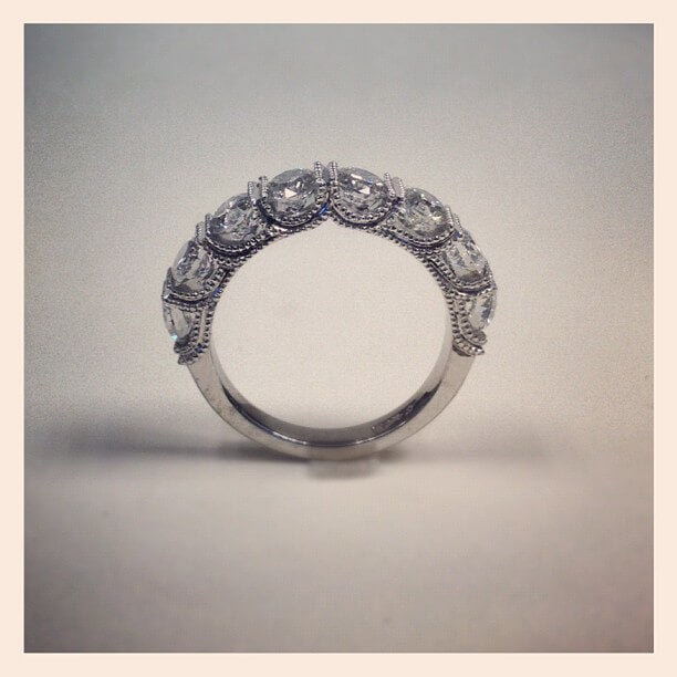 eight diamond wedding ring