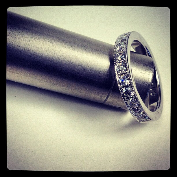 pave wedding ring