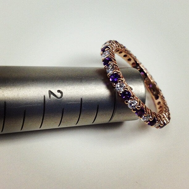 Amethyst and Diamond Eternity Ring