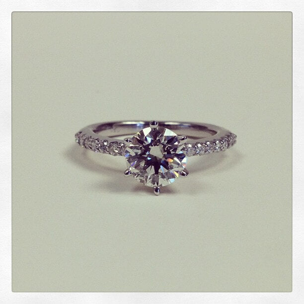 Pave Style Engagement Ring