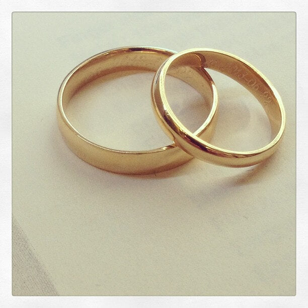 Matching Gold Wedding Bands