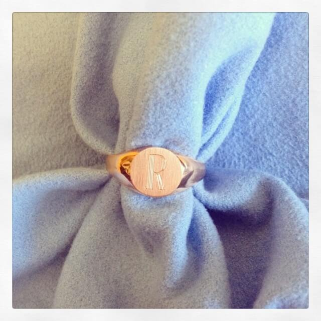 Rose Gold Signet Ring