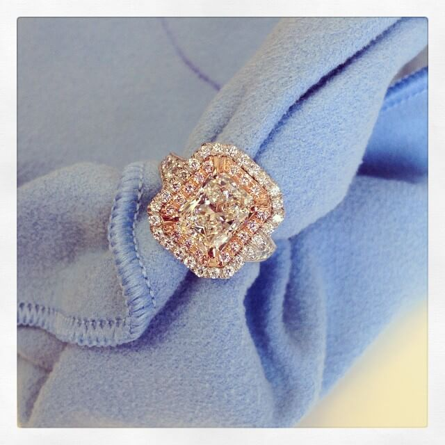 Radiant Cut Double Halo Engagement Ring