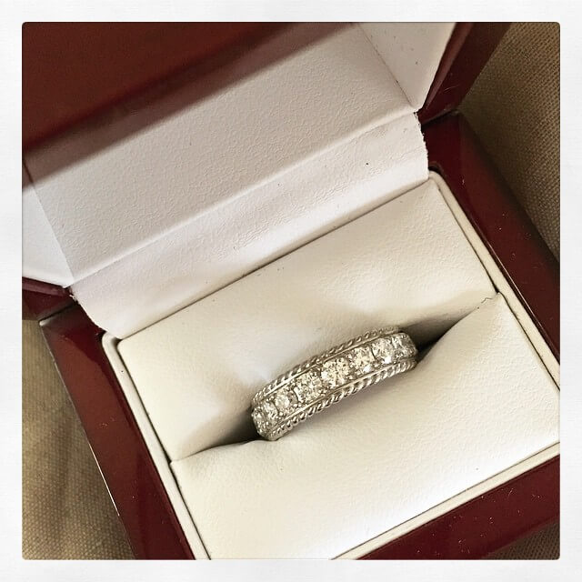Custom Diamond Wedding Band
