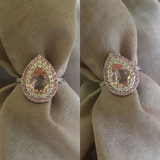 Pink Sapphire Engagement Ring for Morganite