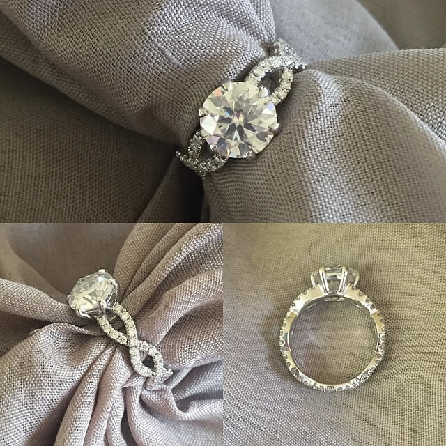 Infinity Style Eternity Engagement Ring