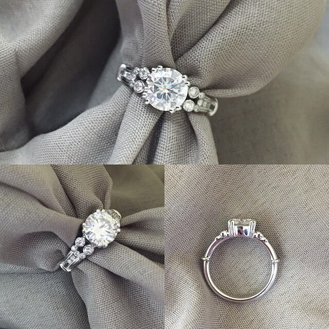 Vintage Style Double Shank Engagement Ring