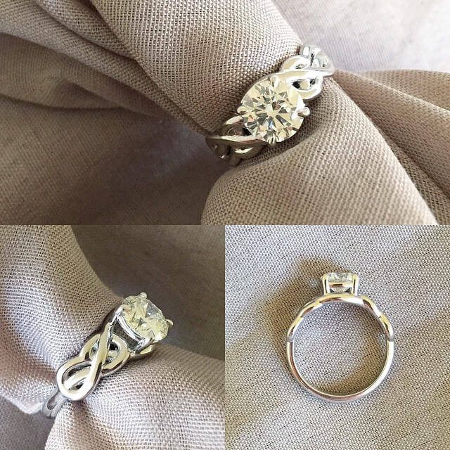 Solitaire Celtic Knot Engagement Ring