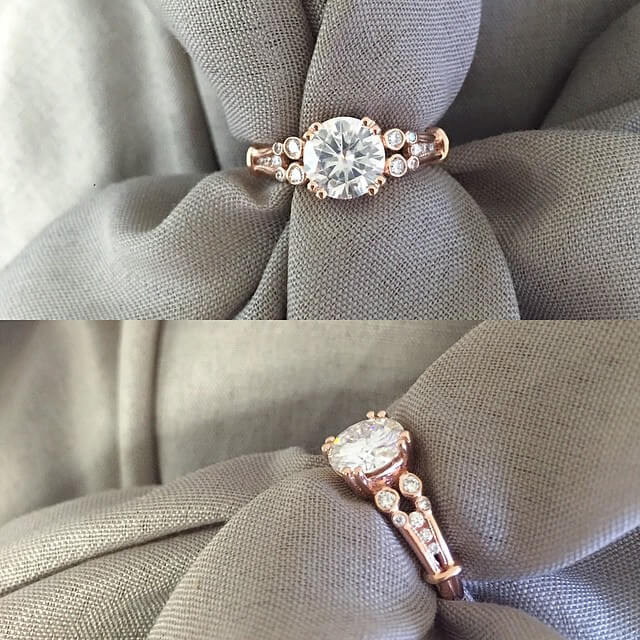Double Shank Vintage Engagement Ring