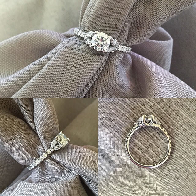 Marquise and Pave Diamond Engagement Ring