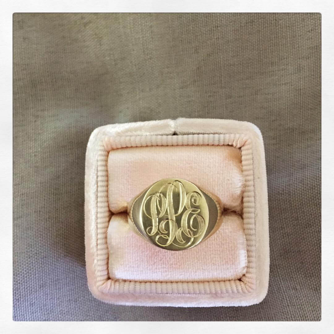 Hand Engraved Signet Ring