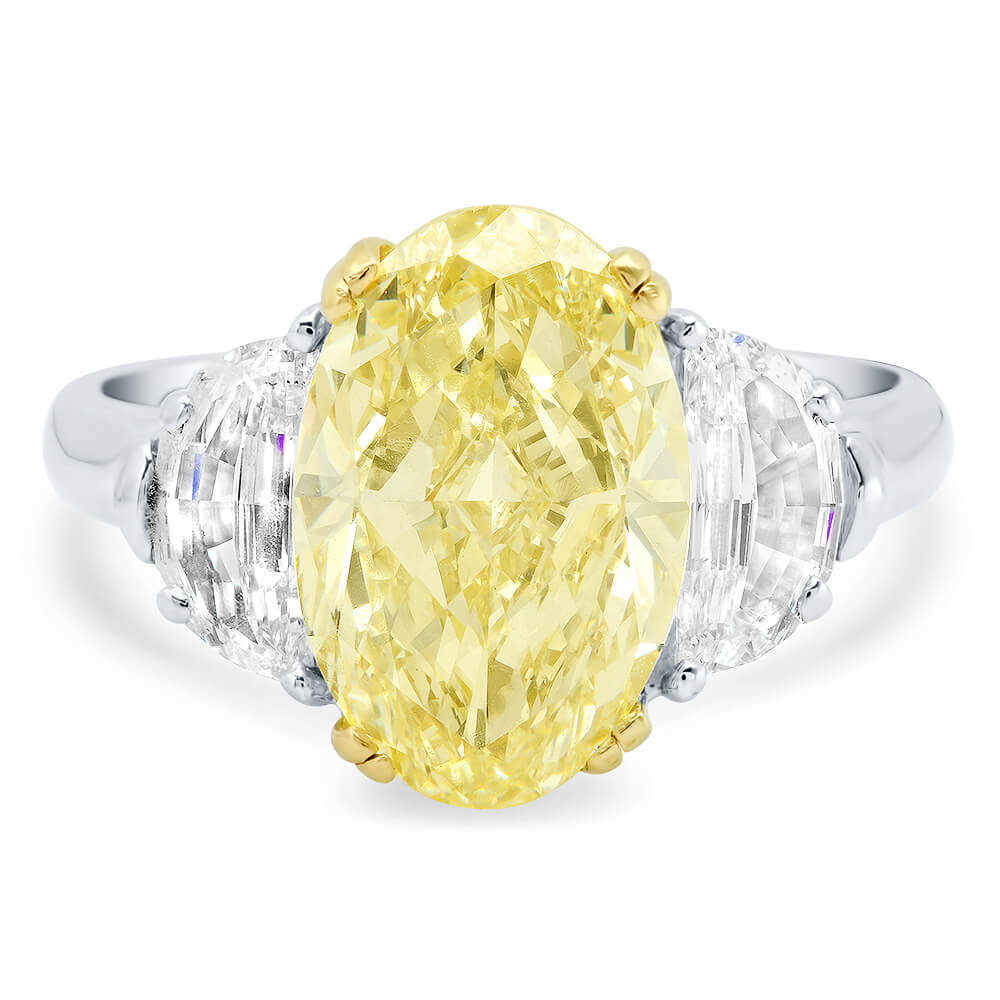 Beautiful 3.89ct Fancy Yellow Canary Diamond Ring in 18kt Gold