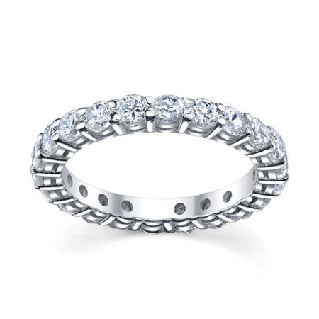 3mm Moissanite Forever One Round Eternity Ring