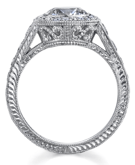 Edwardian Style Halo Engagement Ring