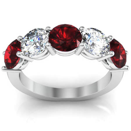 5-stone-ring-with-garnet-and-diamond-birth-stones