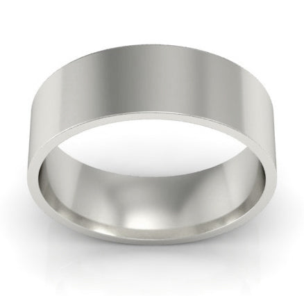 men's plain wedding bands