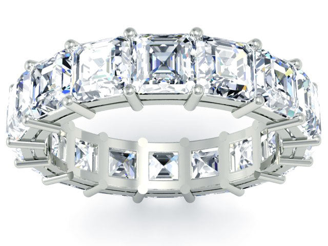 statement eternity ring asscher