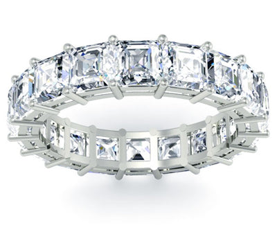 Asscher Diamond Wedding Ring
