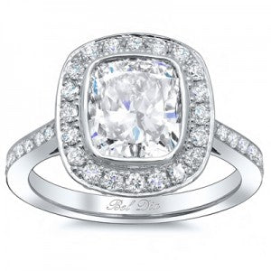 Bezel Set Diamond Engagement Rings