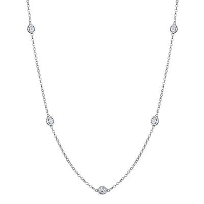 Bezel Diamond Necklaces