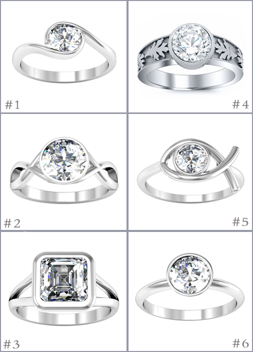 Bezel Solitaire Engagement Rings