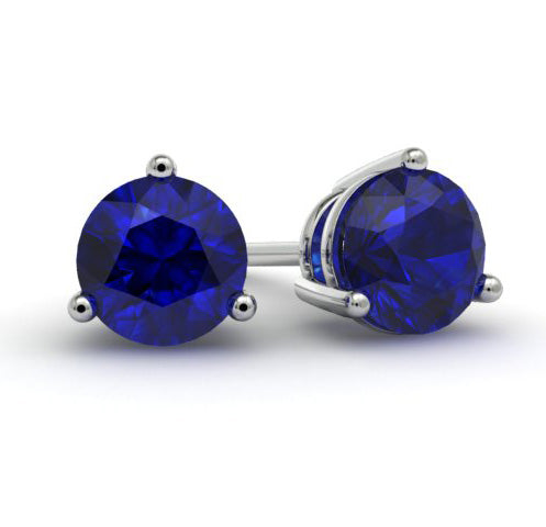 blue sapphire gemstone earrings