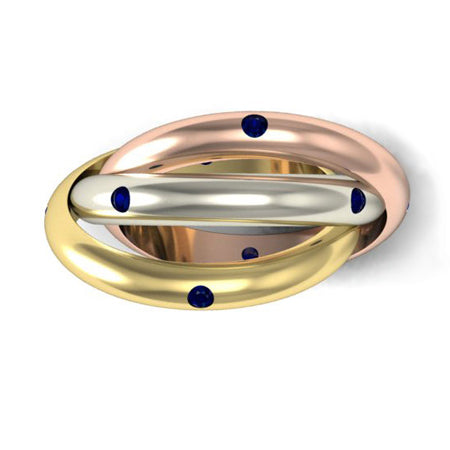 Sapphire Rolling Ring