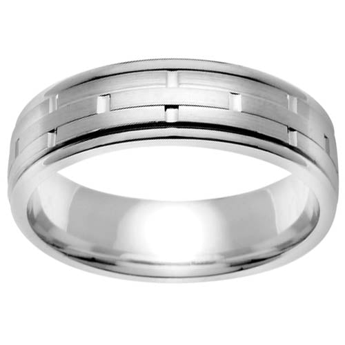 men's platinum wedding bands modern