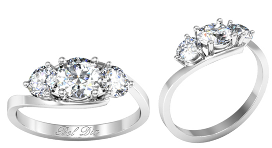 3 Stone Engagement Rings Round