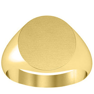 Yellow Gold Signet Rings Women