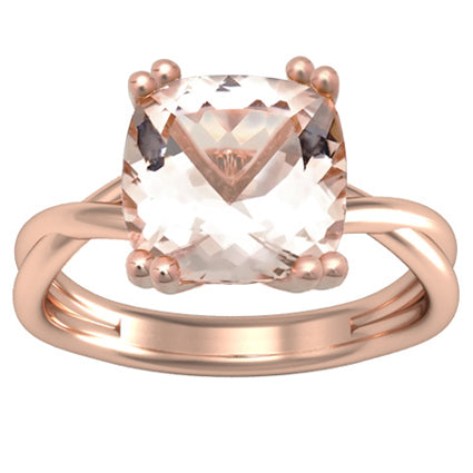 soliatire morganite engagement ring