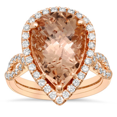 Custom Morganite Ring