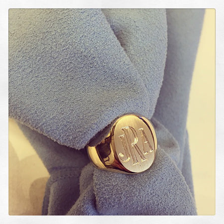 Yellow Gold Women's Signet Ring