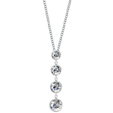 Dangling Diamond Pendant Necklace