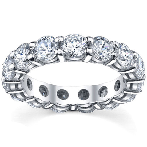 shared prong diamond eternity ring