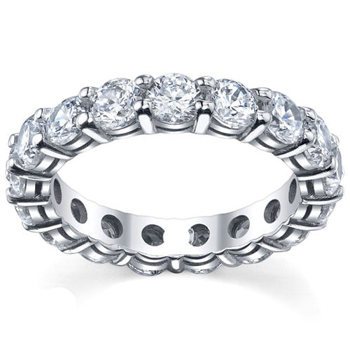 4.00 cttw shared prong diamond eternity ring in style A.