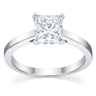 Solitaire Moissanite Engagement Rings