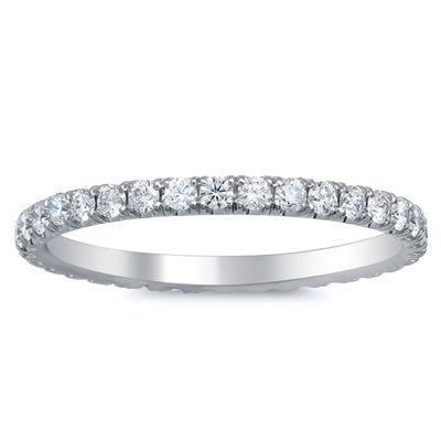 Diamond U Pave Wedding Ring