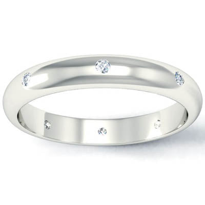 Flush Set Diamond Eternity Ring