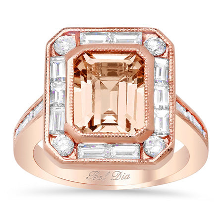 Morganite Engagement Ring Unique