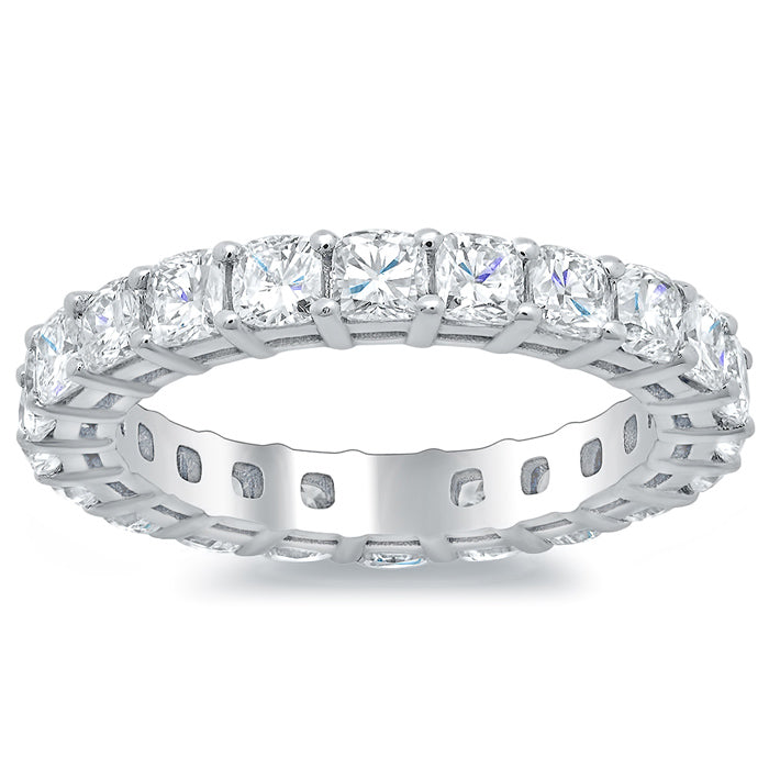 Eternity Band with Cushion Cut Diamonds