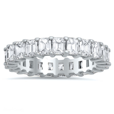 Emerald Cut Eternity Rings